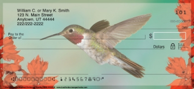 Click on Hummingbirds  Personal Checks For More Details