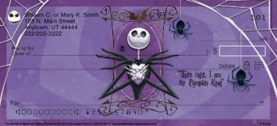Click on Tim Burton's Nightmare Before Christmas  Personal Checks For More Details
