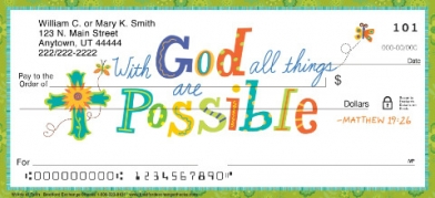 Click on Words of Faith  Personal Checks For More Details