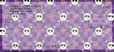 Click on Sweet Skullz  Personal Checks For More Details
