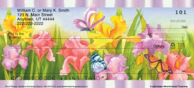 Click on Floral Flutters  Personal Checks For More Details