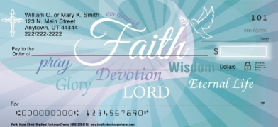 Click on Faith Hope Christ  Personal Checks For More Details