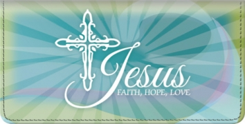 Click on Faith Hope Christ Checkbook Cover For More Details