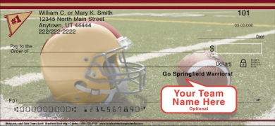 Click on Burgundy & Gold Team Spirit  Personal Checks For More Details