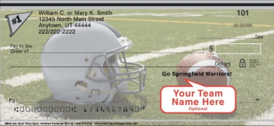 Click on Black & Silver Team Spirit  Personal Checks For More Details