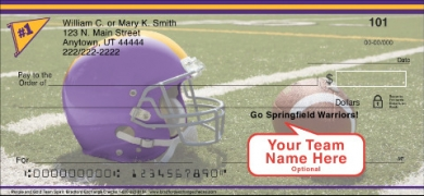Click on Purple & Gold Team Spirit  Personal Checks For More Details
