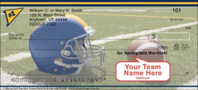 Click on Blue & Gold Team Spirit  Personal Checks For More Details