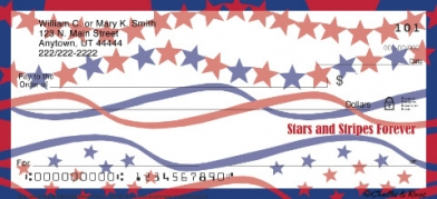 Click on Stars & Stripes  Personal Checks For More Details