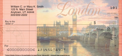 Click on Thomas Kinkade's Romance of Europe  Personal Checks For More Details