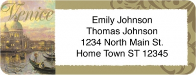 Click on Thomas Kinkade's Romance of Europe Return Address Label For More Details