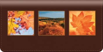 Click on Autumn Leaves Checkbook Cover For More Details