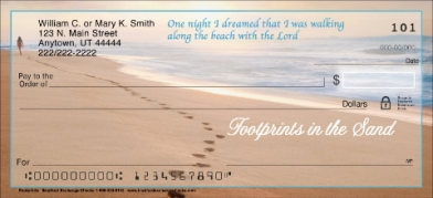 Click on Footprints In The Sand Personal Checks For More Details