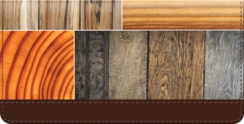 Click on Woodgrain Checkbook Cover For More Details