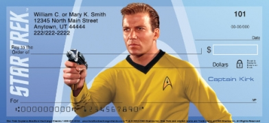 Click on Star Trek Captains Personal Checks For More Details