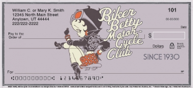Click on Betty Boop Motorcycle Club Personal Checks For More Details