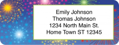 Click on Fireworks Return Address Label For More Details