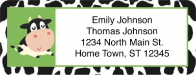 Click on Udderly Cute Cows Return Address Label For More Details