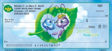 Click on A Bug's Life Personal Checks For More Details