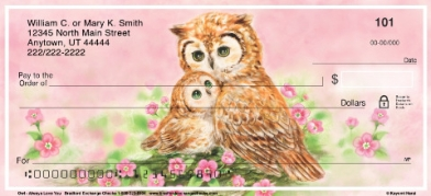 Click on Owl Always Love You Personal Checks For More Details