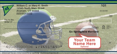 Click on Blue & Green Team Spirit Personal Checks For More Details