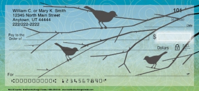 Click on Bird Silhouettes Personal Checks For More Details