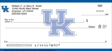 Click on University of Kentucky Personal Personal Checks thumbnail to view the product detail page