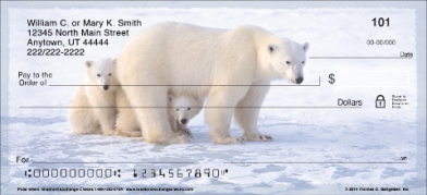 Click on Polar Bears Personal Checks For More Details