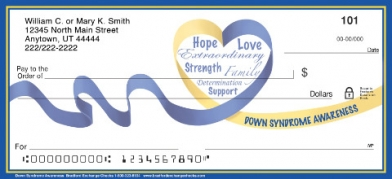 Click on Down Syndrome Awareness Personal Checks For More Details