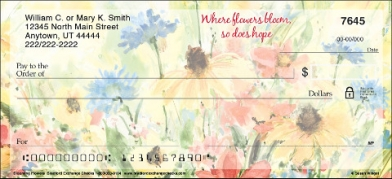 Click on Blooming Flowers Personal Checks For More Details