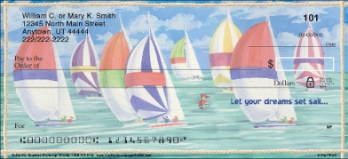 Click on Sailboats Personal Checks For More Details