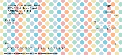 Click on Pretty Polka Dots Personal Checks For More Details