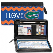 Click on I Love Gators(R) Chevron Zippered Wallet Checkbook Cover For More Details