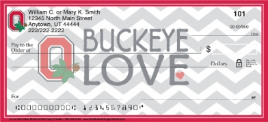 Click on I Love Ohio State Chevron Personal Checks For More Details