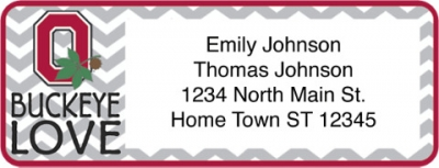 Click on I Love Ohio State Chevron Return Address Label For More Details