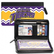 Click on I Love LSU(R) Chevron Zippered Wallet Checkbook Cover For More Details