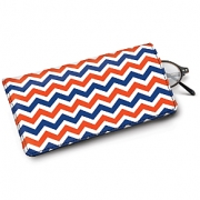 Learn more about Blue and Orange Chevron Eyeglass Case