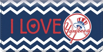 Click on I Love the Yankees(TM) Chevron Checkbook Coverr For More Details