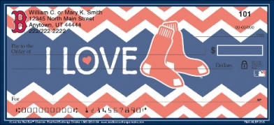 Click on I Love the Red Sox(TM) Chevron Personal Checks For More Details