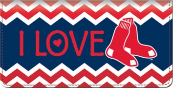 Click on I Love the Red Sox(TM) Chevron Checkbook Cover For More Details