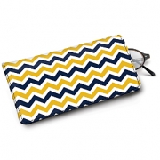 Learn more about Blue and Gold Chevron Eyeglass Case