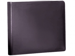 Learn more about 3 Ring Check Binder - Black Bonded Leather