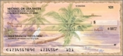 Palm Trees and Beaches Personal Checks