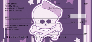 Click on Girly Skulls Personal Checks For More Details