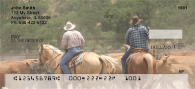 Click on Life of a Cowboy  Personal Checks For More Details