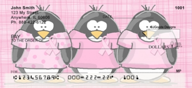 Click on Jen Goode's Ribbon Penguins  Personal Checks For More Details