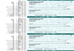 Learn more about Teal Marble Multi Purpose Business Checks