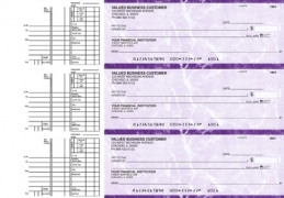 Learn more about Purple Marble Multi Purpose Business Checks