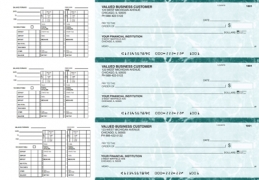 Learn more about Teal Marble Payroll Business Checks