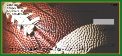 Click on Green & Gold Football Team  Personal Checks For More Details