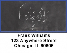 Click on Blue & Silver Football Team Address Labels For More Details